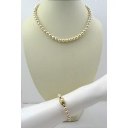Parure perles d'imitation, bijoux fantaisie neufs, collier et bracelet